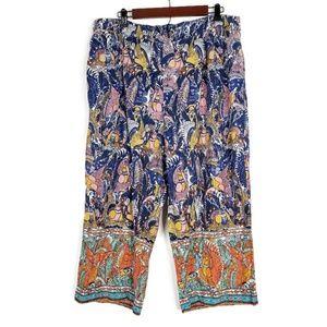 Mermaid Anthropologie Wide Flowy Leg Pants